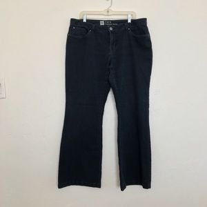Mossimo Supply Co Black Flare Leg Jeans Size 14